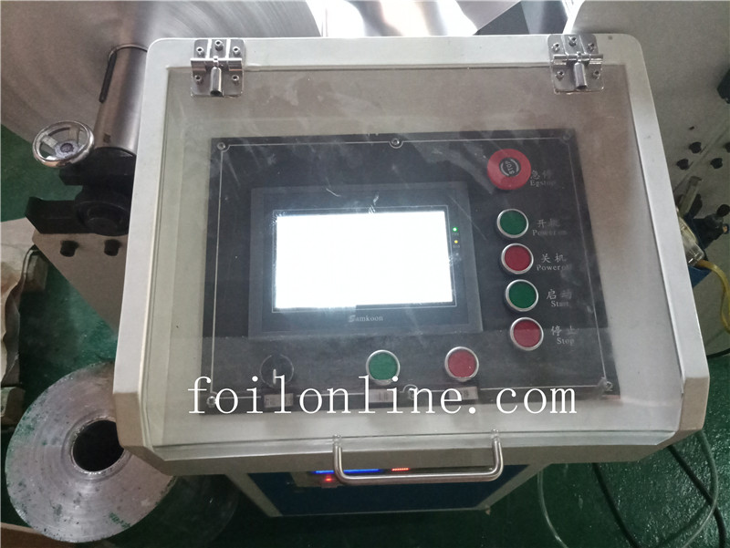 aluminium foil container making machine Control display