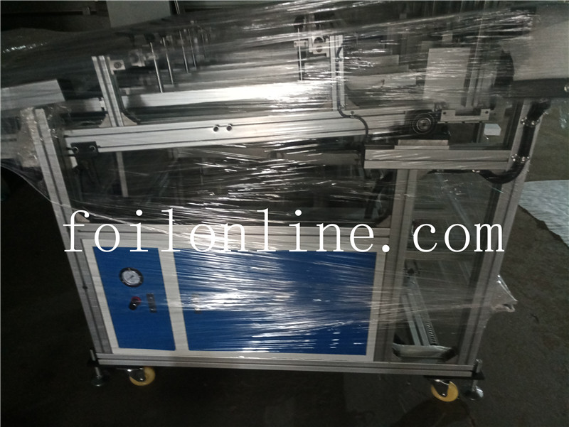 aluminium foil container making machine Two track automatic stacker 3
