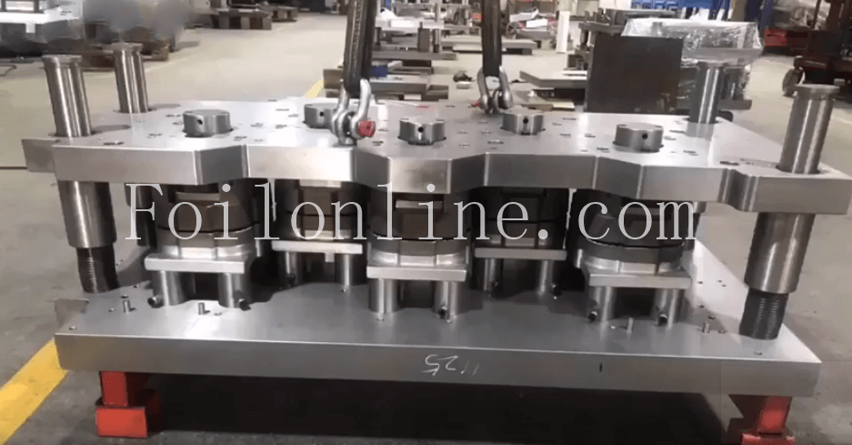 aluminum foil container mkaing machine and mould