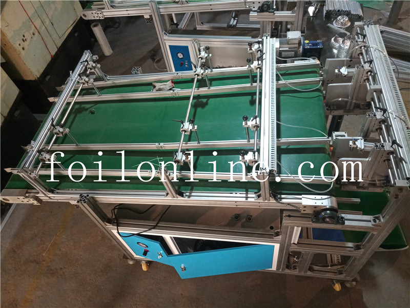 aluminium foil container making machine Two track automatic stacke