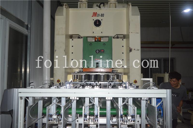 aluminum foil container making machine price